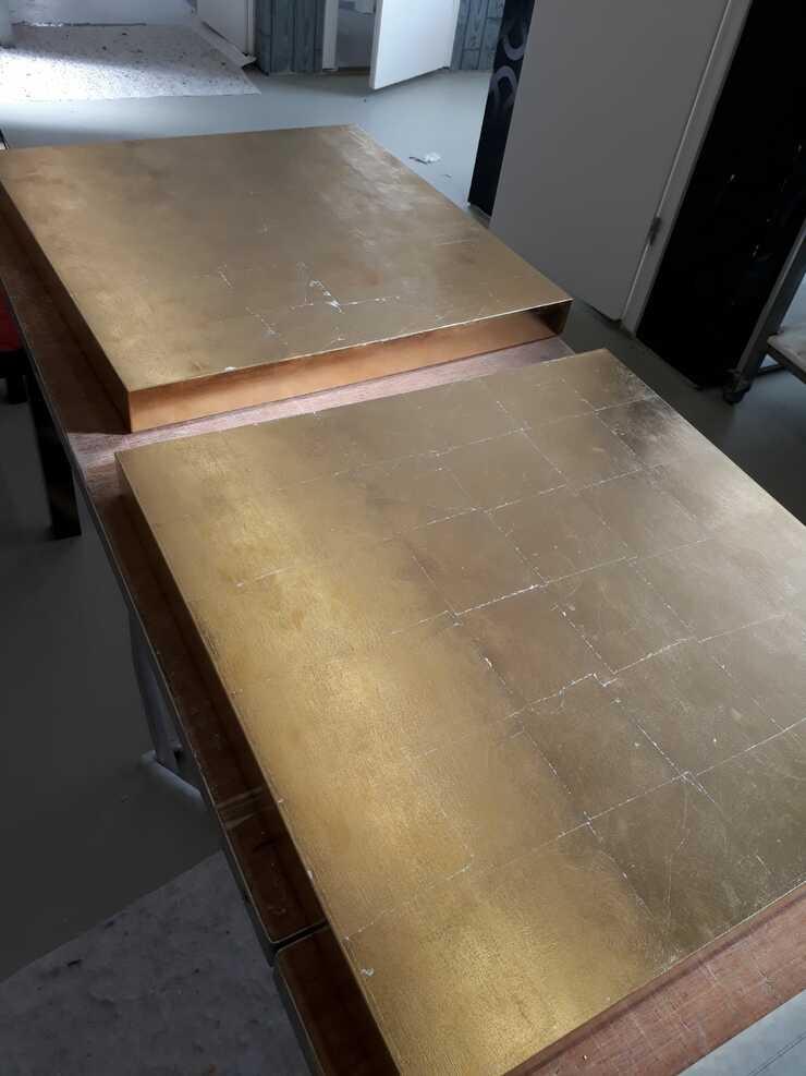 Handwerk hat goldenen Boden - Vergoldung in der ÜLU der Maler- und Lackiererinnung des Kreises Wesel