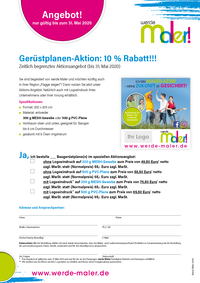 Bestellformular Aktion Gerüstplanen 31.05.2020