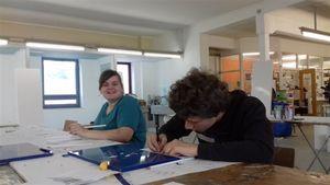 Projekttag: Malerwerkstatt trifft Gesamtschule