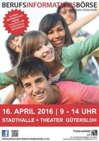 Berufsinformationsbörse am 16. April in der Stadthalle Gütersloh
